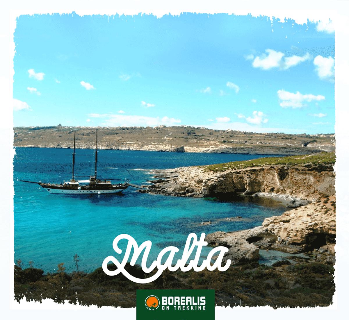 Vista sobre o mar na ilha de Malta